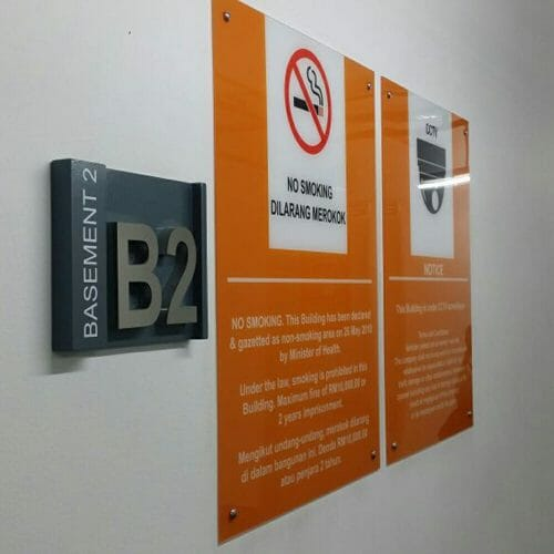 Acrylic Notice Board With Paste On Sticker