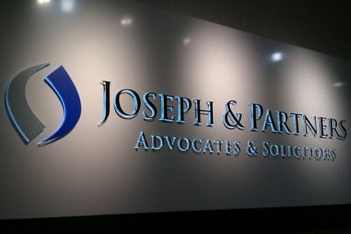 3D Acrylic Cut Out With Backlit LED Office signage