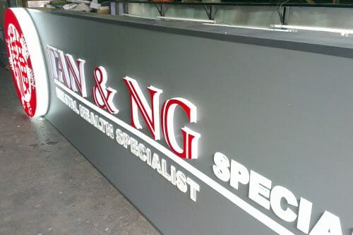 ACM Base With 3D EG Boxup Letters With 2K Colour Coating